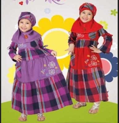 gambar baju muslim anak perempuan yang lucu