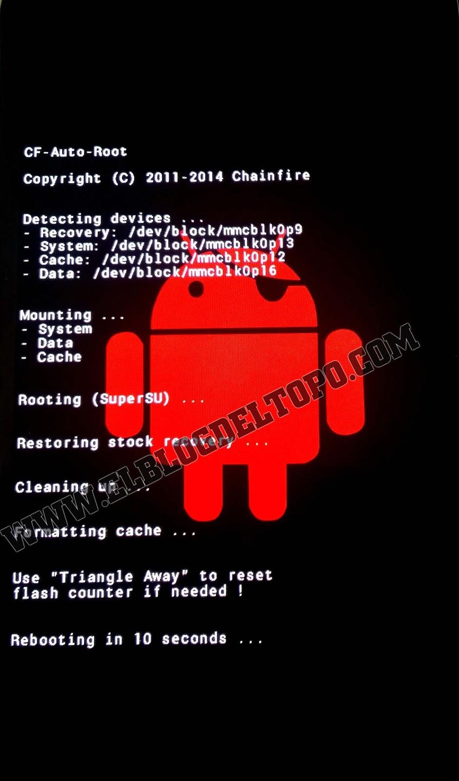 Rootear Samsung Galaxy Mega 2 Sm G750h Con Cf Auto Root Nota Si Al Finalizar El Proceso Despus De La Pantalla Androide En Rojo Tu Telfono No Encendi O Se Quedo Negra Lo Que Debes Hacer Es