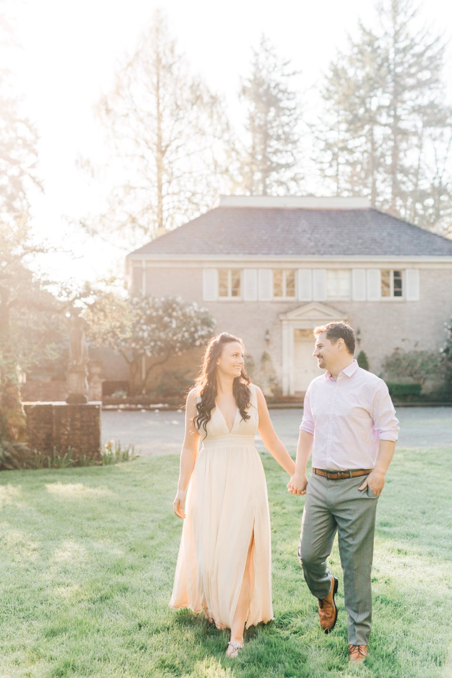 Spring Engagement Session-Wagner House-Lakewold Gardens Photographers-Something Minted Photography