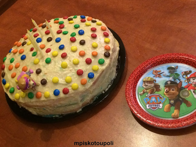 our rainbow birthday cake paw patrol 4