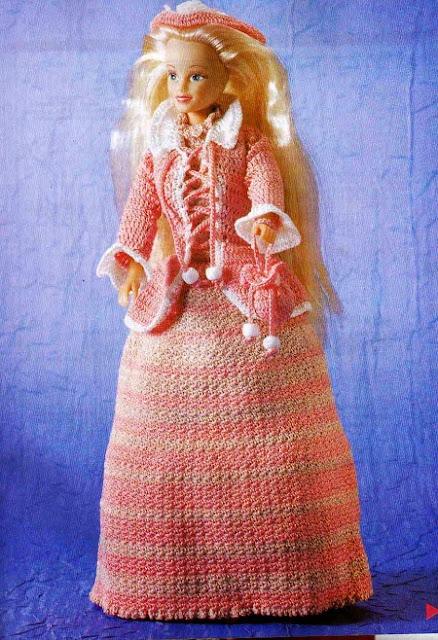 """Pág. revista """"1000 Mailles Robes de Bal et de Mariée au Crochet - Pour Poupée Mannequin"""""""