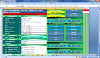 raport k13 sd untuk guru mapel mapel