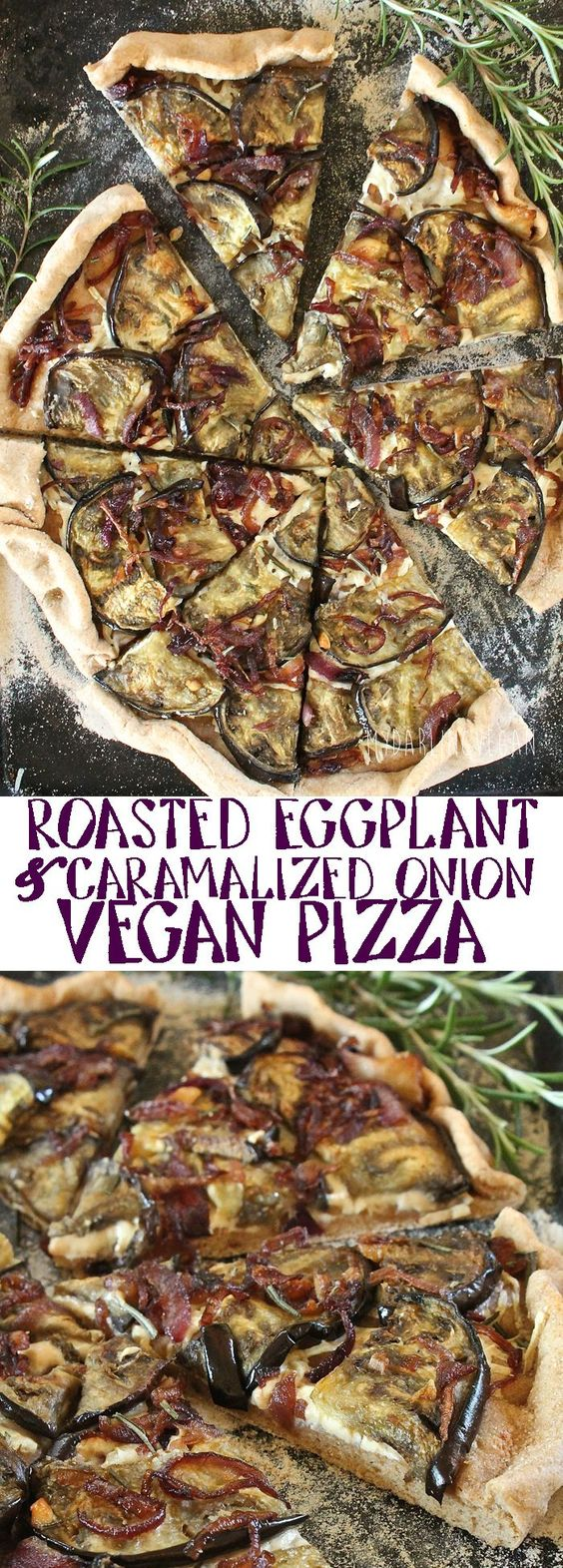 Eggplant Pizza with Caramelized Onion
