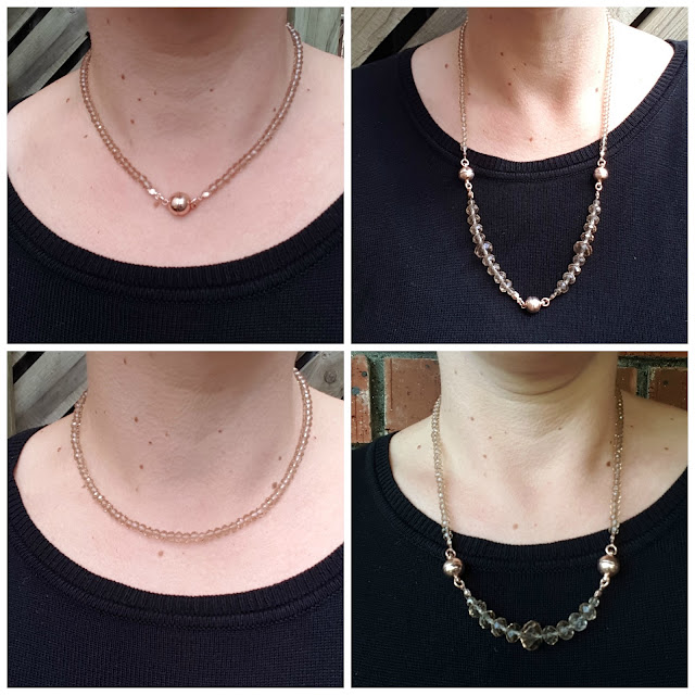 Maria Nicola 10 Way Necklace Champagne | Almost Posh