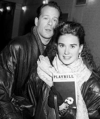 Foto de Demi Moore junto a su ex pareja Bruce Willis