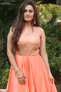 Actress Sakshi in beautiful orange Anarkali Dress Spicy Pics    033.jpg