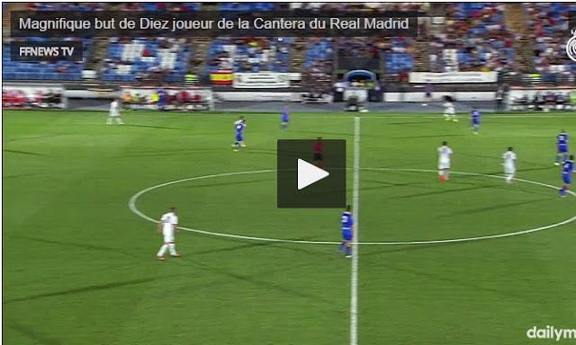 Vidéo : Magnifique but de Diaz avec la réserve du Real Madrid