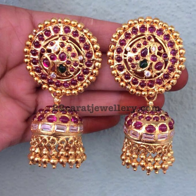 New Pattern Grand Silver Jhumkas and Chandbalis