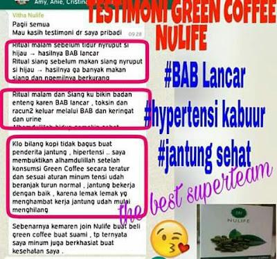 Testimoni GREEN COFFEE NULIFE