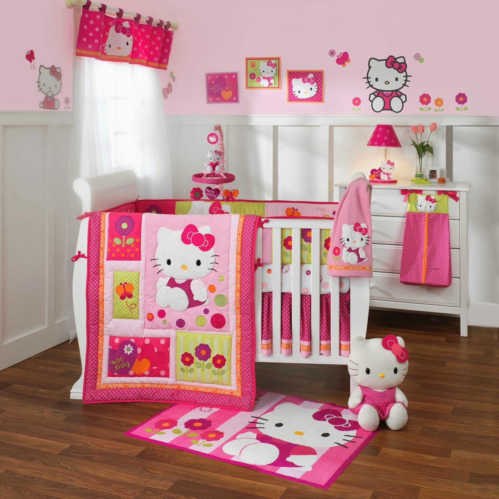 Hello Kitty Themed Baby Bedroom Geeks Fashion