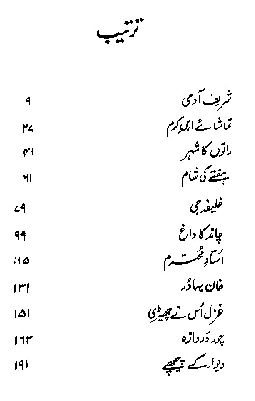 Ratoon ka Shehar Urdu Short Story PDF Book