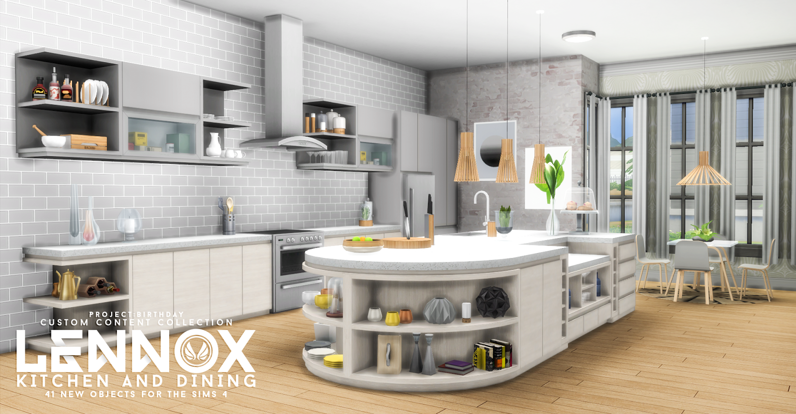 Sims 4 Cc 39 S The Best Lennox Kitchen And Dining Set By Peacemaker Ic