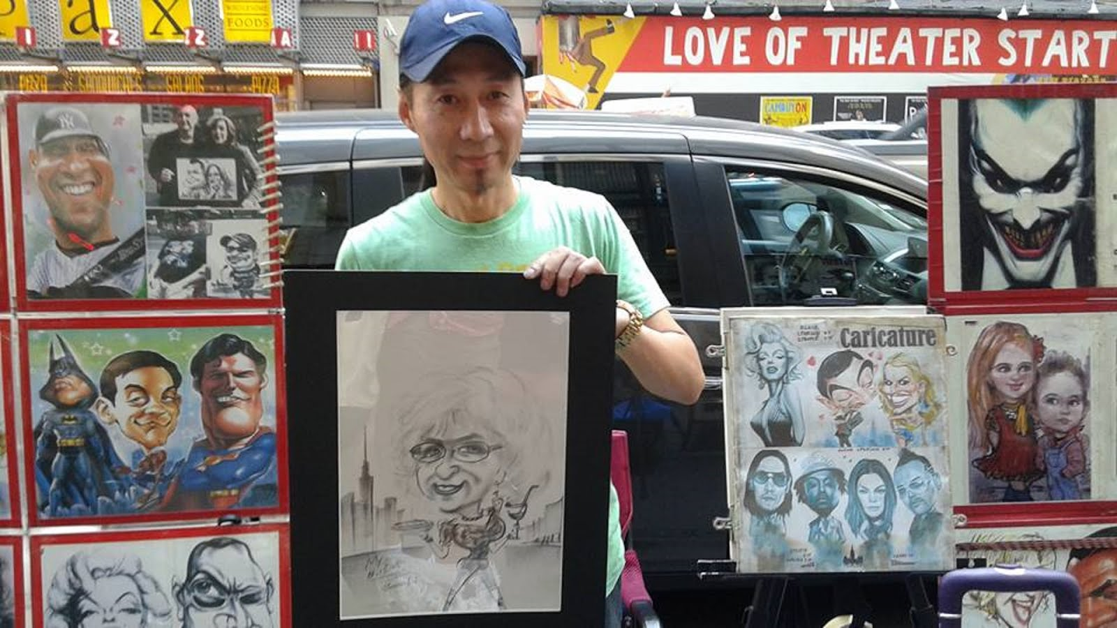 Quan Li  Great Caricature Artist Near Times Square