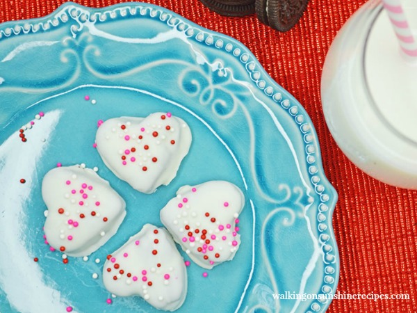 Heart Shaped Oreo Truffles