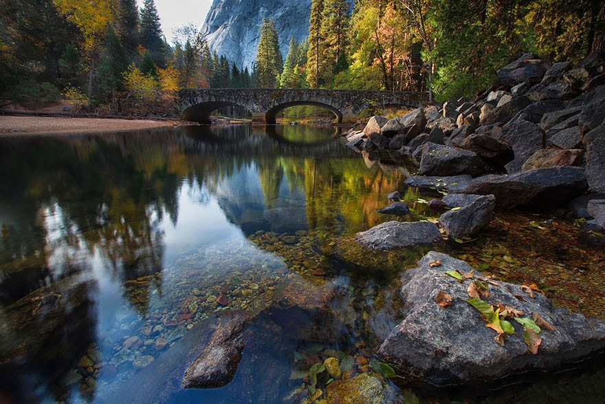 Bridge leading across the Merced River, Yosemite, USA - 20 Mystical Bridges That Will Take You To Another World