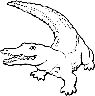 crocidile coloring pages for kids | Free Coloring Pages Crocodiles