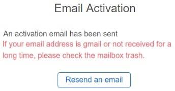 Validar correo electrónico registro en KuCoin