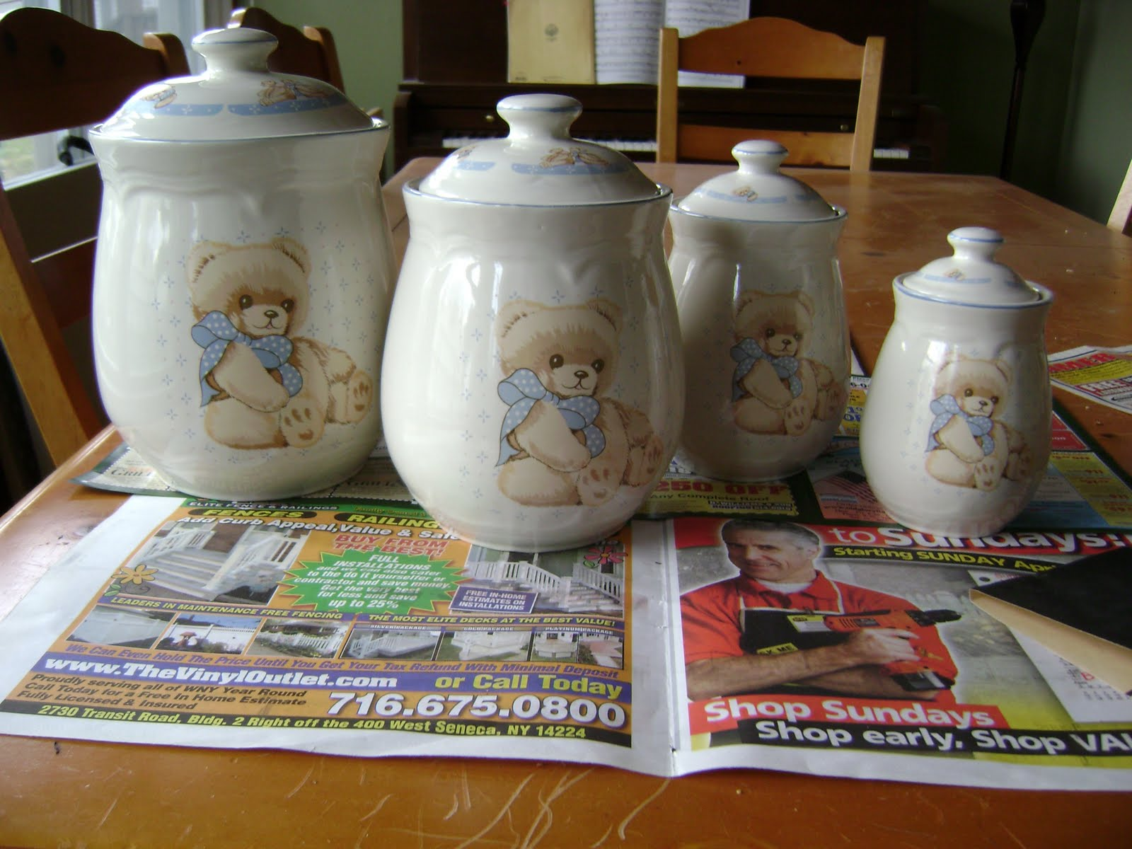 Spray Painting Ceramic My New Kitchen Canisters
