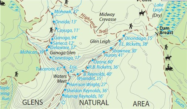 Gone Hikin': Ricketts Glen State Park, PA - Falls Trail ... on wallace falls trail map, locust lake map, hyner view map, lehigh gorge map, tuscarora map, haneyville atv trail map, clifty falls trail map, glen onoko trail map, susquehannock map, quebec run wild area map, cowans gap map, clear creek map, seven tubs natural area map, warriors path map, prince gallitzin map, pymatuning map, lake george hiking trails map, gifford pinchot map, waterfall glen map, sumter national forest trail map,