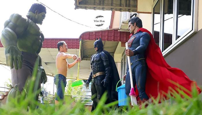 Conheça Wire Hon, Ele cria fotos divertidas e muito criativas com os heróis da Marvel e DC Comics