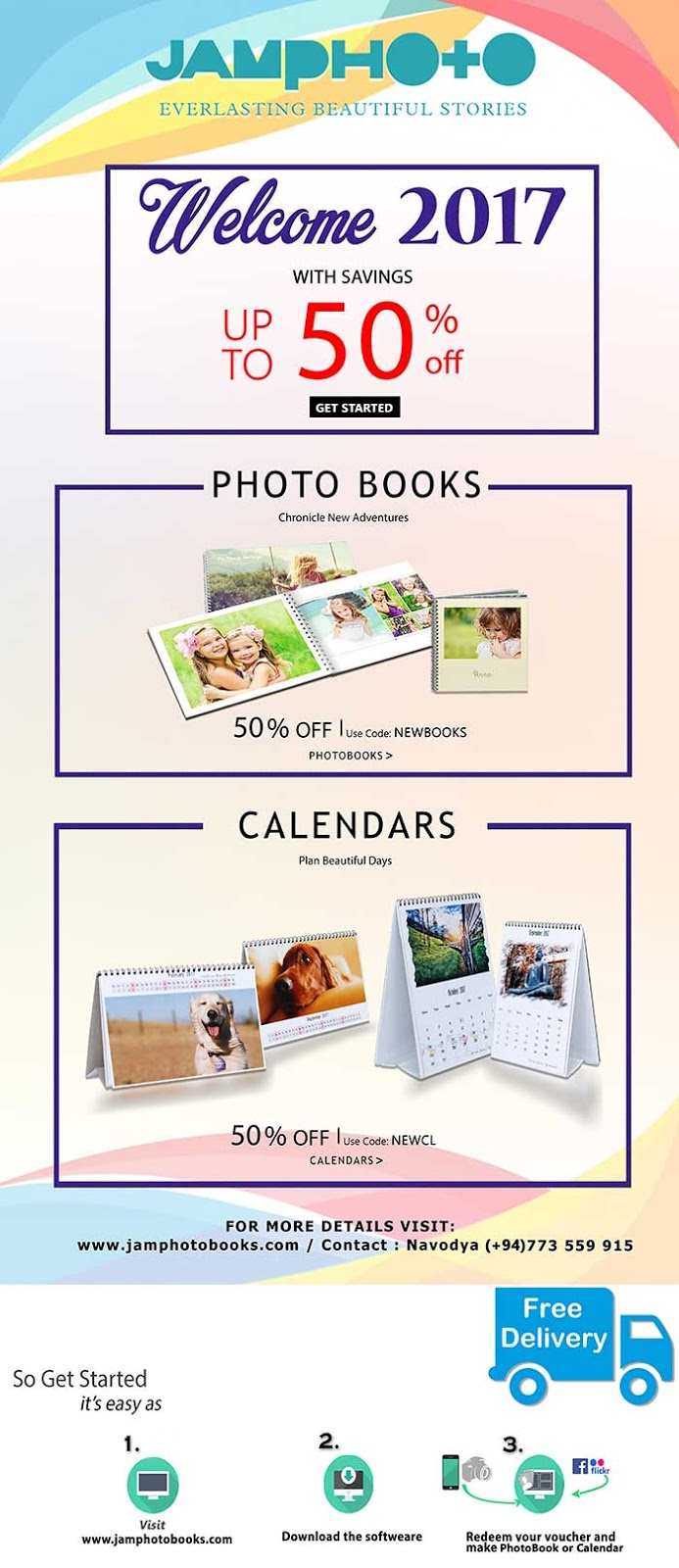 Welcome to 2017 with Savings on Photo Books and Calendars - Online.