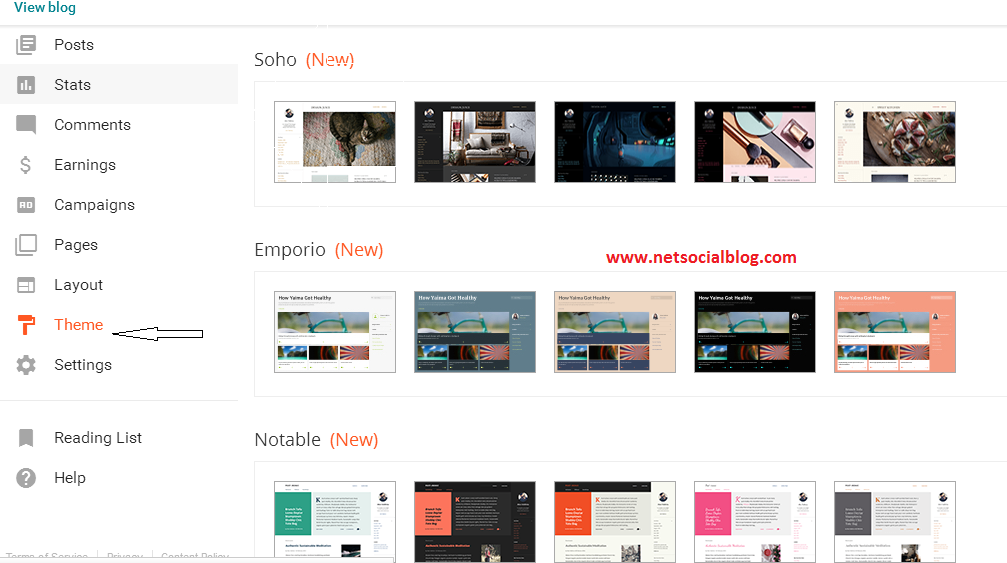 Blogger Template Style Name Ethereal