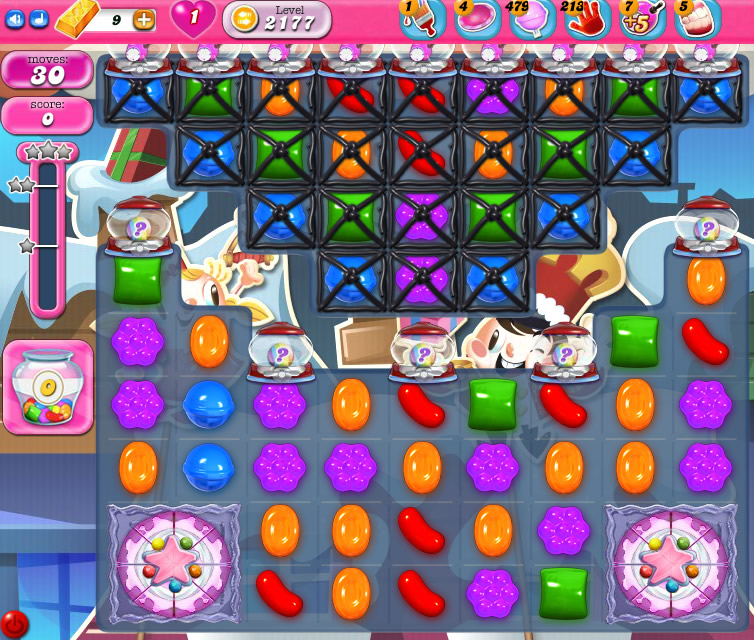Candy Crush Saga level 2177