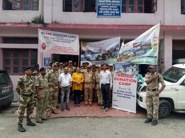 Blood donation camp by CISF NHPC TLDP stage 3