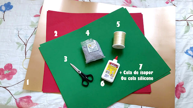 DIY Decoraç u00e3o de Natal Móbile usando EVA e cartolina Renata Bastos