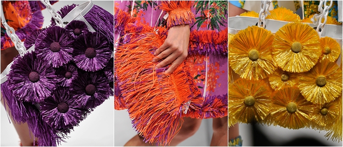 Blumarine spring 2012 fringe bags and purses