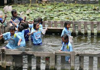 Outbound anak-anak di Taman Rekreasi Sengkaling 2019