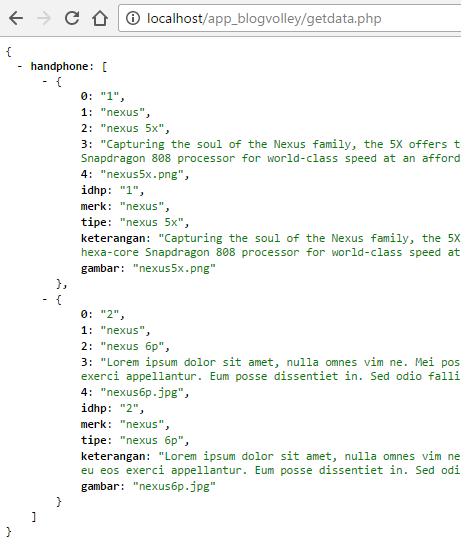 Volley - Menampilkan Data dari JSON ke Aplikasi Android