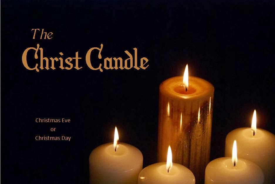 The Christ Candle Advent On Christmas