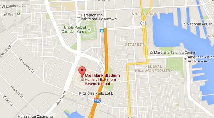 M & T Bank Stadium is 3 minutes/0.7 miles from Hampton Inn Baltimore Downtown Convention Center Hotel