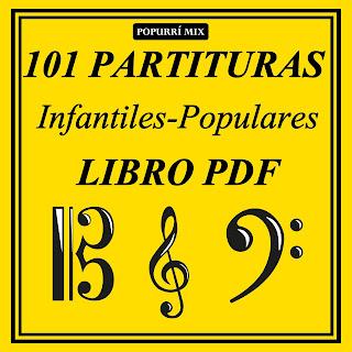 Canon Infantil a 3 Voces Partituras de Flauta, Violín, Saxofón Alto, Trompeta, Viola, Oboe, Clarinete, Saxo Tenor, Soprano Sax, Trombón, Fliscorno, chelo, Fagot, Barítono, Bombardino, Trompa o corno, Tuba...