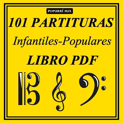 LIBROS DE PARTITURAS PARA APRENDER MÚSICA POPULAR, INFANTIL VILLANCICOS TRADICIONAL RECOMENDADO PARA PROFESORES Y MAESTROS DE MÚSICA EDUCACION MUSICAL