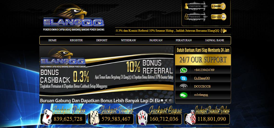 ELANGQQ Agen Poker Online Indonesia Paling Fair