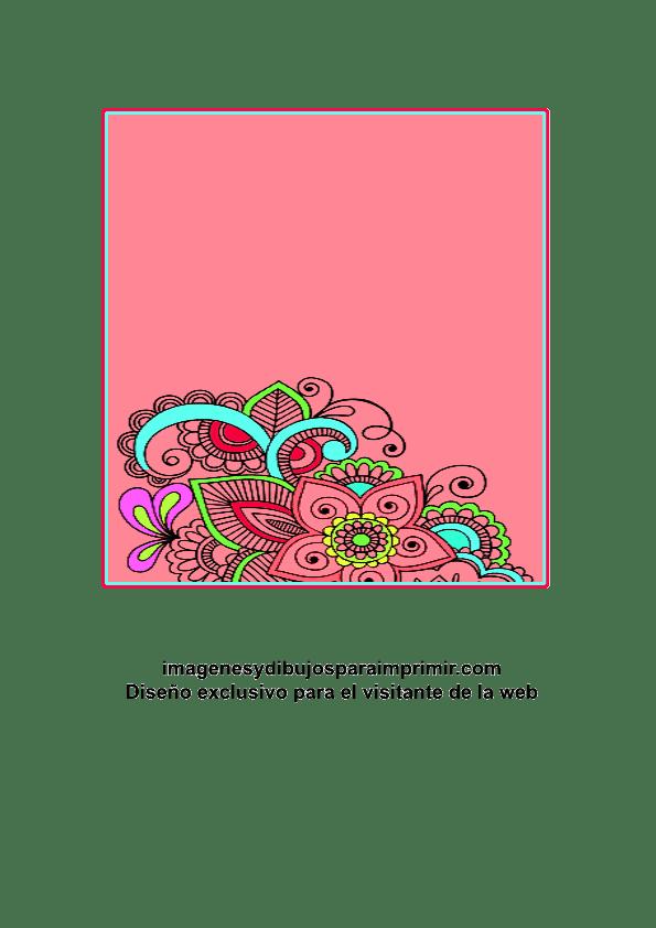 Tarjetas Para Imprimir Con Flores Imágenes Y Dibujos Para