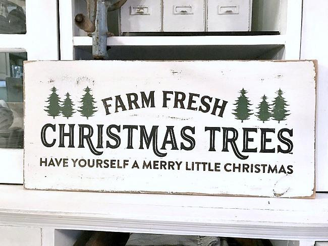 Rustic Farm Fresh Christmas Tree sign