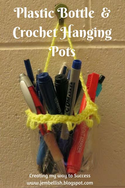 Plastic Bottle and Crochet Hanging Pots