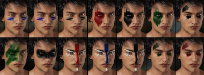 Warrior Make-up for Genesis 3 Male