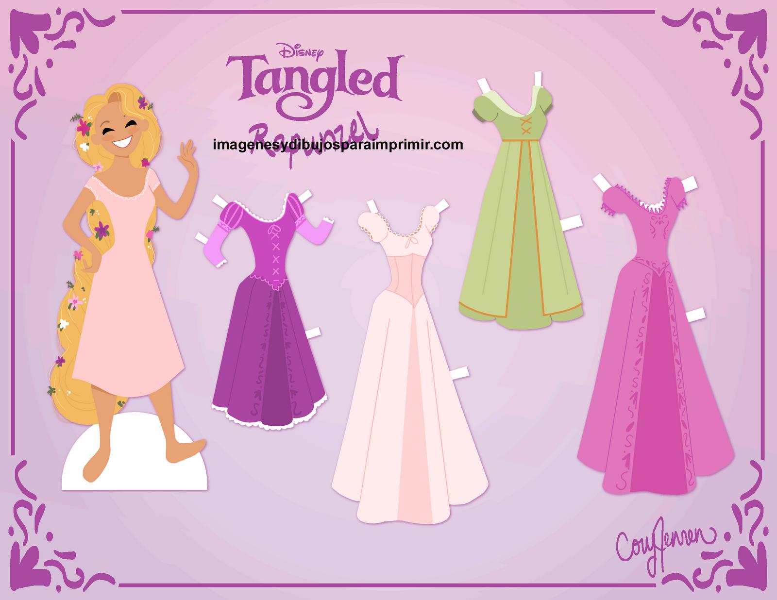 Dibujos Para Colorear Rapunzel: RECORTABLES Y PAPERCRAFT: RAPUNZEL RECORTABLES