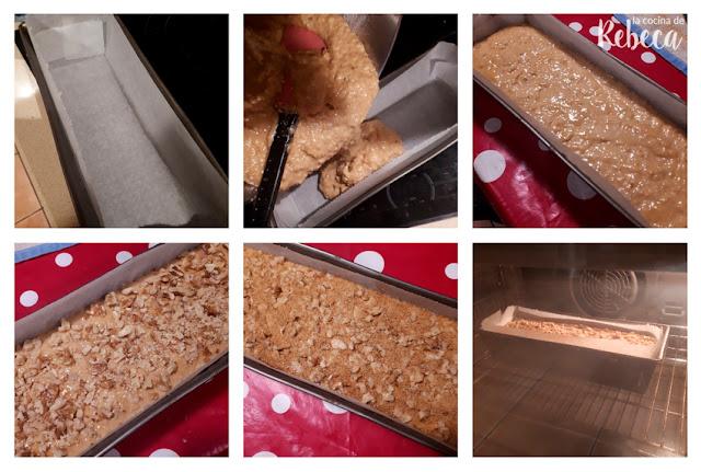 Receta de bizcocho de membrillo  y nueces: elaboración de la costra