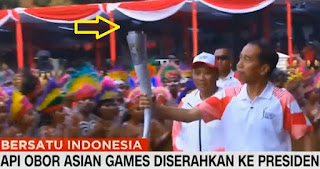 Api Obor Asian Games Mati Saat Dipegang Presiden Jokowi, Begini kronologinya