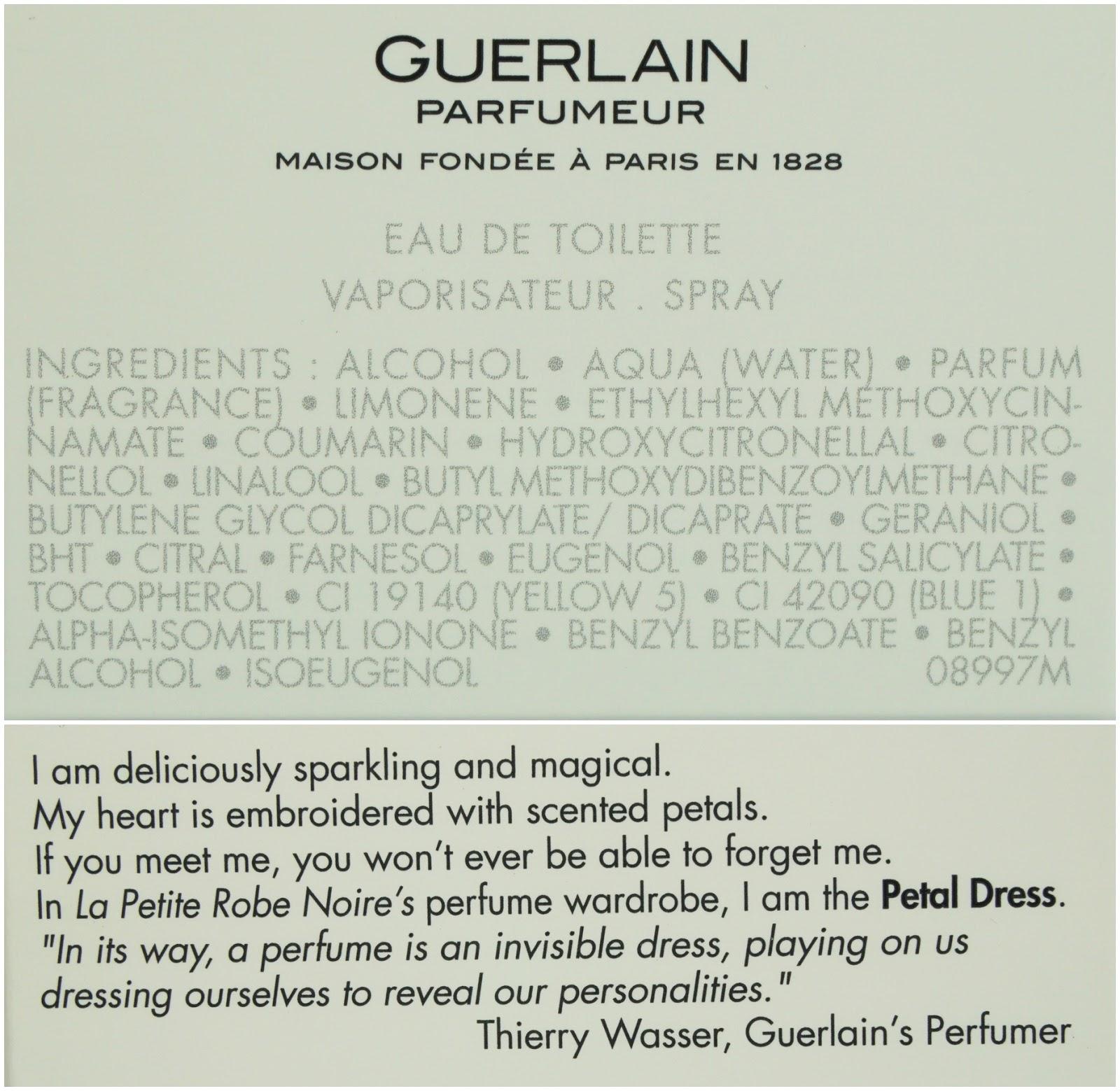 Guerlain - La Petite Robe Noire Eau Fraîche Ingredients