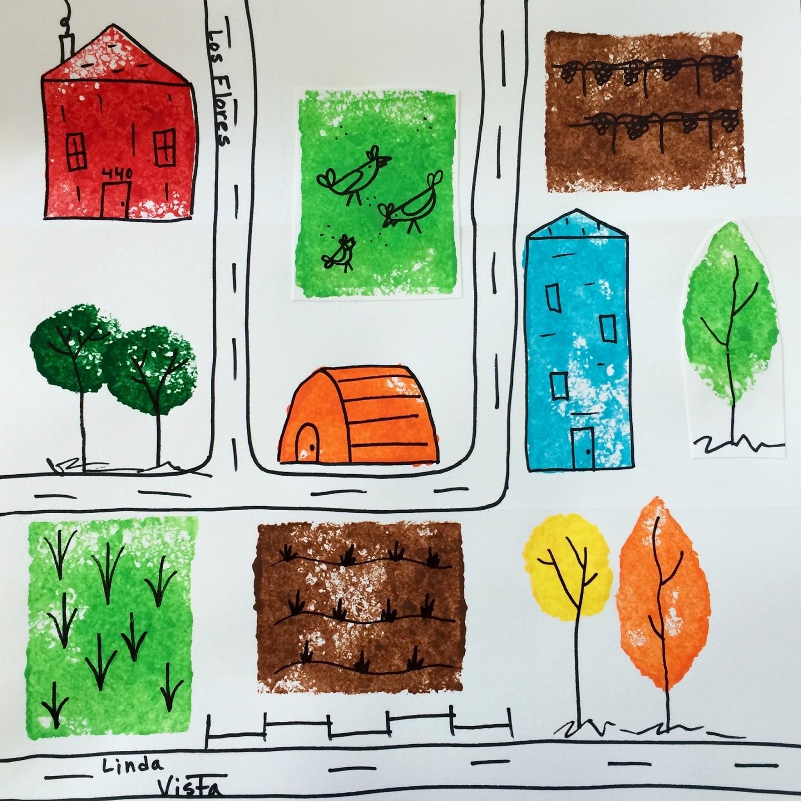 Kathy S Art Project Ideas My Neighborhood Art Project