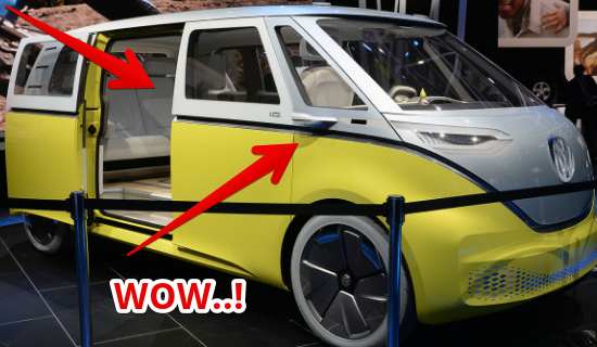 2017 Detroit Auto Show : The Volkswagen I.D. Buzz autonomous EV is yet another  Microbus Concept