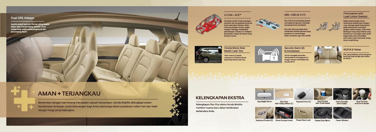 Kelengkapan Honda Mobilio Baru