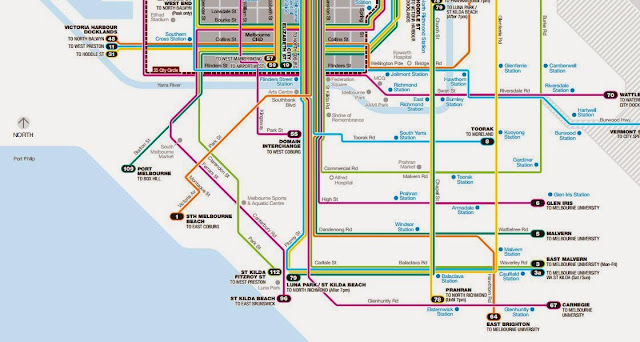 Melbourne Trams Line Map