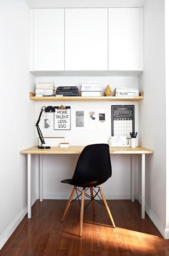 decoração de home office pequeno masculino